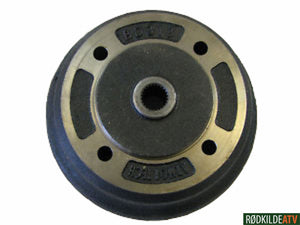 245.0210 - Kawasaki Brake Drum - 3010/4010 Rear 41038-0035 - Rødkilde ATV
