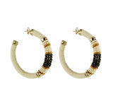 Big Hoops Saphira Beads 2 Tone