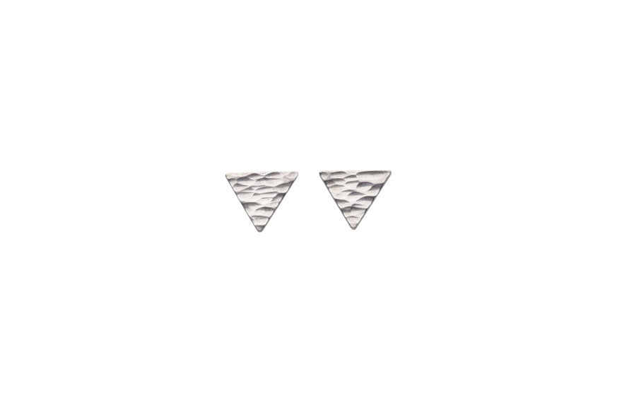 Mini Silver Triangle Earrings