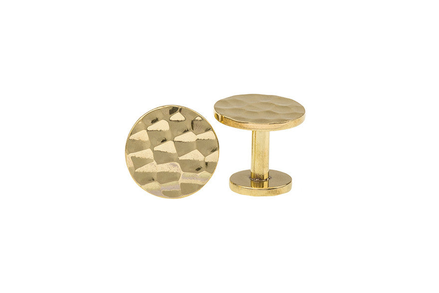 Brass Button Cufflinks