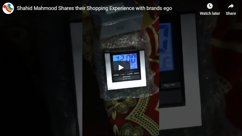 Shahid Mahmood Shares their Shopping Experience with brands ego
