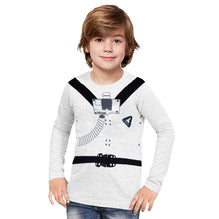 Next Crew Neck Full Sleeve T Shirt For Kid-Light Gray-BE2055