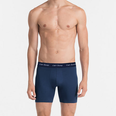 Klein Boxer Shorts For Men-Light Navy-BE4202