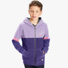 Next Fleece Zipper Hoodie For Kids-Light & Dark Purple-SP859