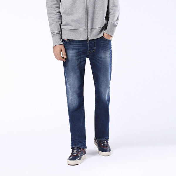"Men's ""DIESEL"" Slim Fit Strech Denim Dark Blue Faded-ND46"