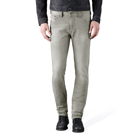 "Men's ""DIESEL"" Light Grey Slim Fit Stretch Denim With Light Grey Wash-ND03"