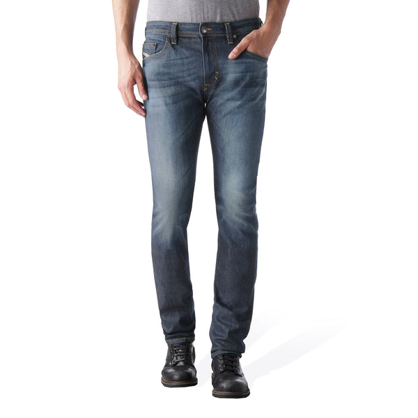 "Men's ""DIESEL"" Dark Blue Slim Fit Stretch Denim With Dirty  Wash-ND04"