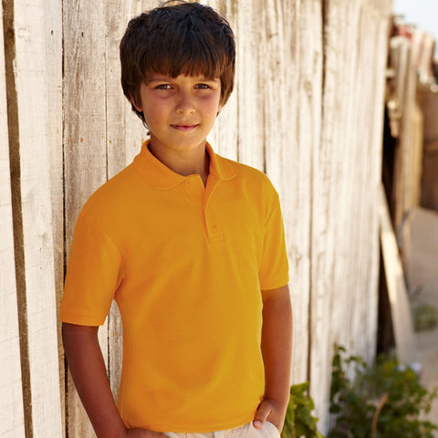 Dickies Polo Shirt For Boys-Blaze Orange-BE789