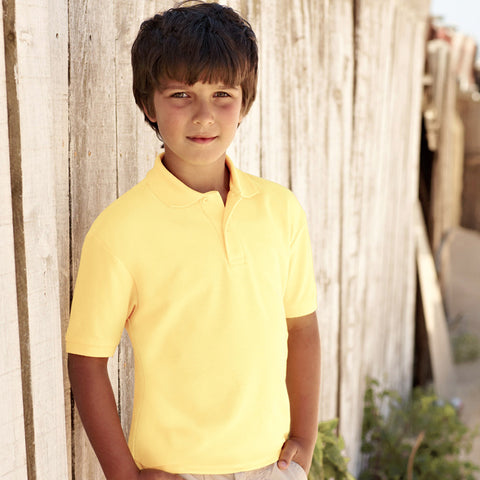 Dickies Polo Shirt For Boys-Light Yellow-BE786