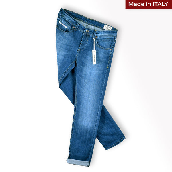 "Men's ""DIESEL"" INDAK. Slim Fit Stretch Denim With Mid Blue Wash"