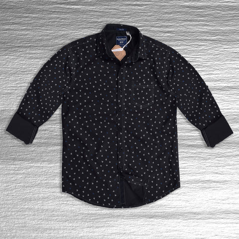 "Men's ""Bushirt Patloon"" Exclusive Casual Shirt-Black"