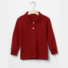 DMB Boys Full Sleeve Polo Shirt For Boys-Red-BE2943