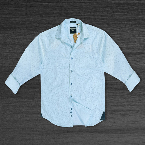 "Men's ""Bushirt Patloon"" Exclusive Casual Shirt-Sky"