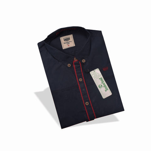 "Men's ""Red Berry"" Exclusive Ak L Cotton Shirt- 0269"