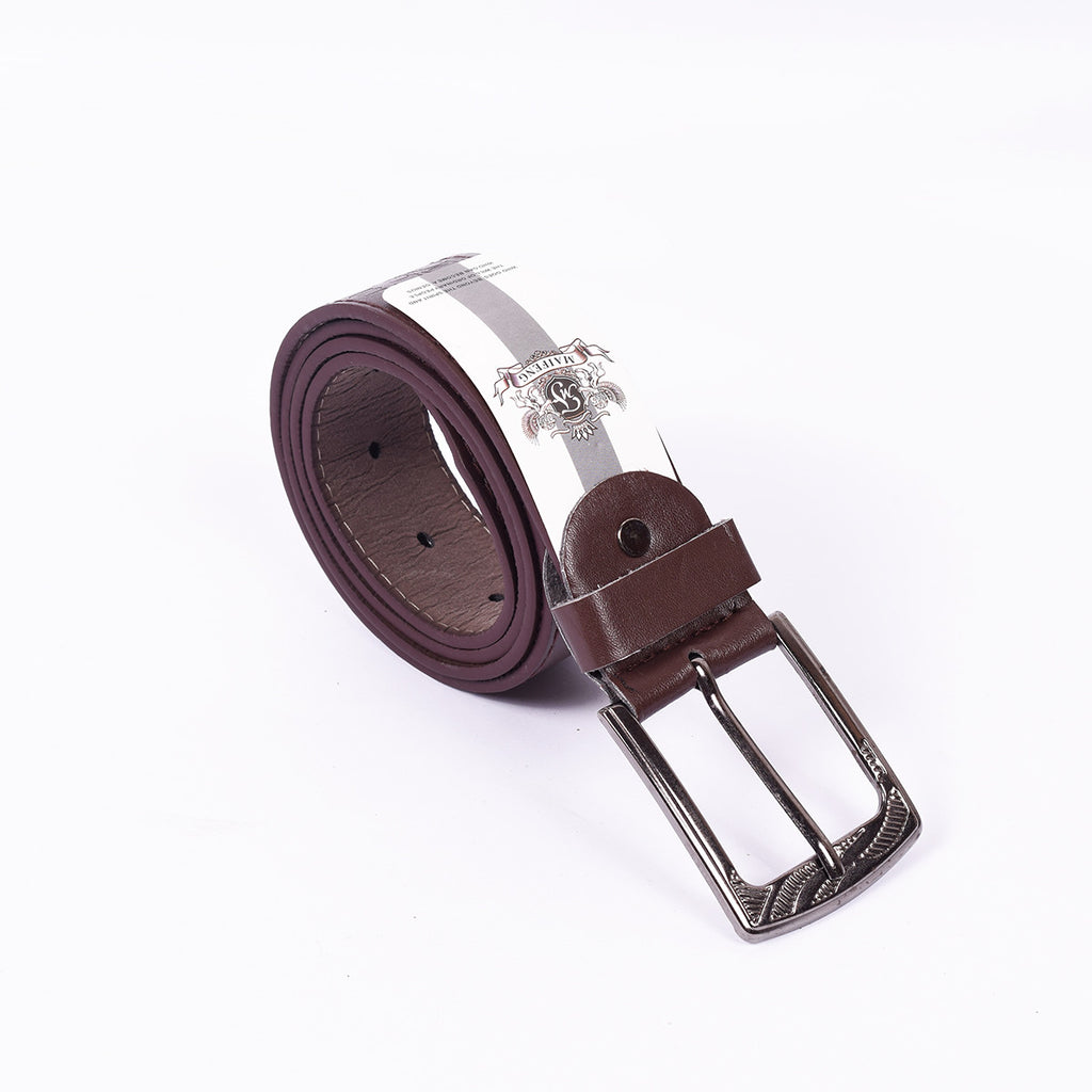 Men's Belt-Dark Maroon-BE260