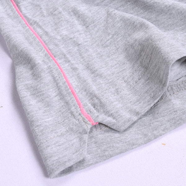 """Feeling Lovely"" 100% Cotten Ladies Short Grey"