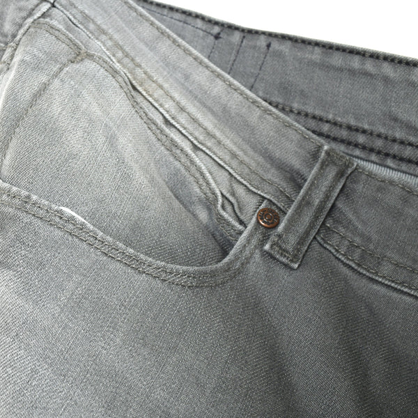 "Men's ""DIESEL"" Light Grey Slim Fit Stretch Denim With Grey Wash"