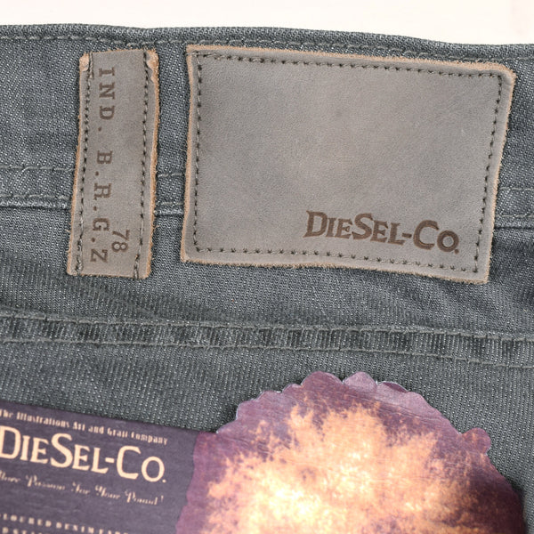"Men's ""DIESEL"" B.R.G.Z Slim Fit Stretch Denim With Dark Grey Wash"