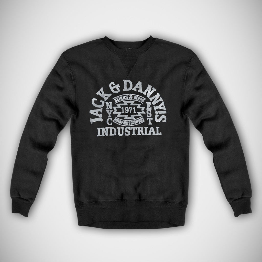 "Men's ""Jack & Danny's"" Full Sleeve Sweat Shirt-Charcoal"