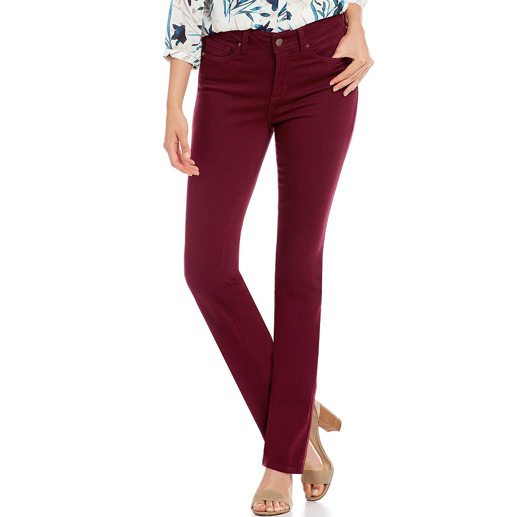 Beautiful Soul Full Stretch Skinny Fit Denim-Burgundy-BE3539