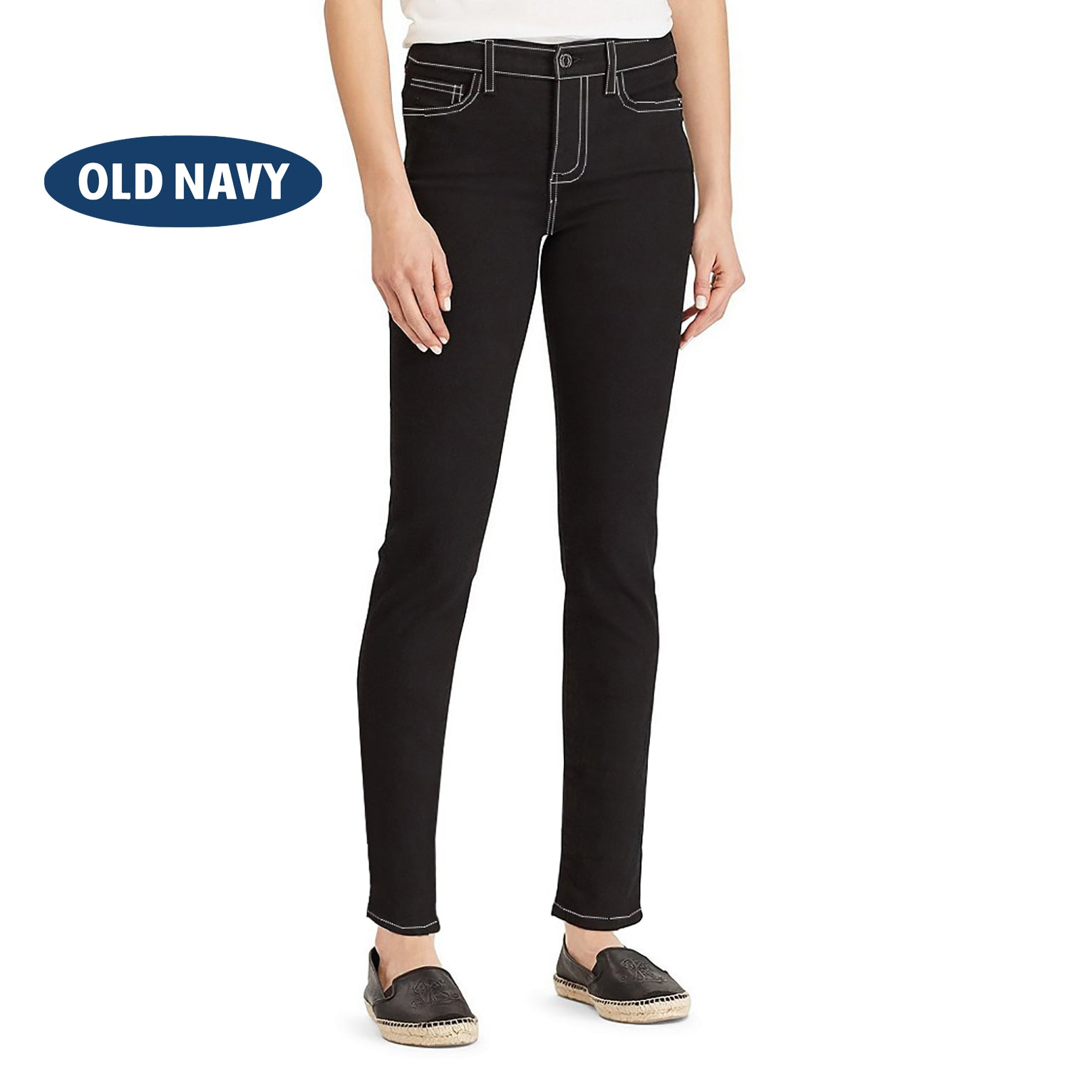 Old Navy Stylish Slim Fit Denim For Ladies-Jet Black-NA5538