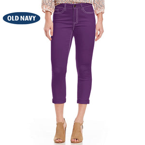 Old Navy Stylish Slim Fit Capri For Ladies-Purple-NA5952