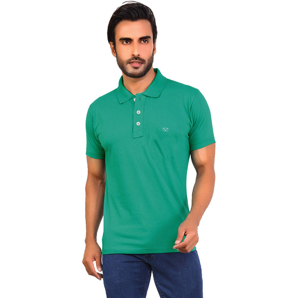 Farrel Polo Shirt For Men Cut Label-Dark turquoise-BE1047