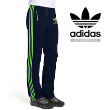 Adidas Cotton Trouser For Men-Navy with Green Stripes-BE2335