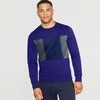 Next Fleece Crew Neck Sweatshirt For Men-Dark Purple & Multi Panel-SP1055