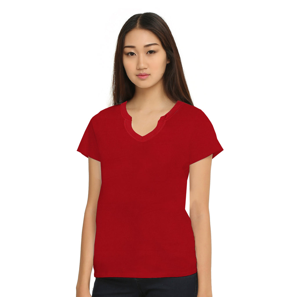 B Quality Ladies's Zoey Beth Stylish Tops  Red -To1