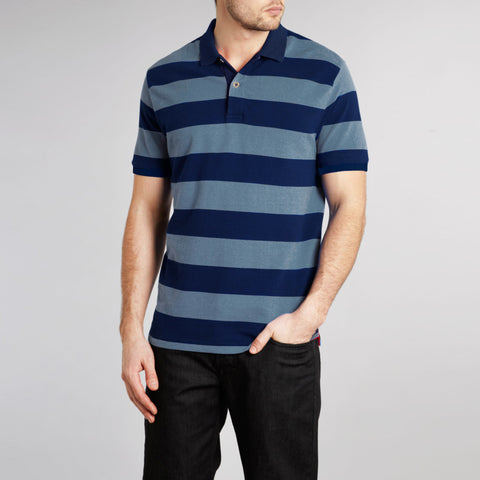 Fat Face Polo For Men Cut Label-Blue Striped-BE2311