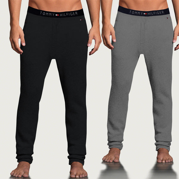 "Pack of 2 Men's "" Tommy Hillfiger"" Singal Jersy Trousers-Black & Gray-THT01"