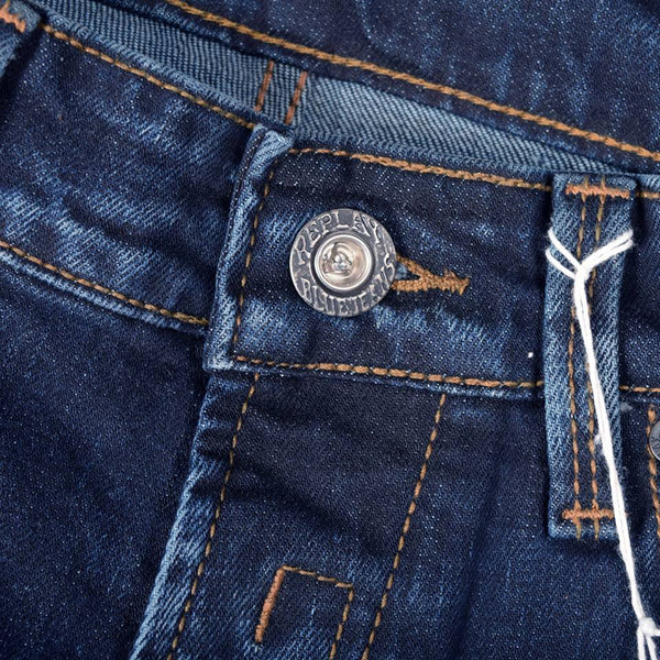 "Men's ""REPLAY"" Slim Fit Straight Ripped Denim With Dark Wash"