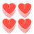 Pack Of 4 Heart Shaped Red Dinner Candle Dinner-SP2511