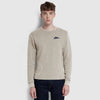 NK Crew Neck Thermal Sweatshirt For Men-Camel-SP1338