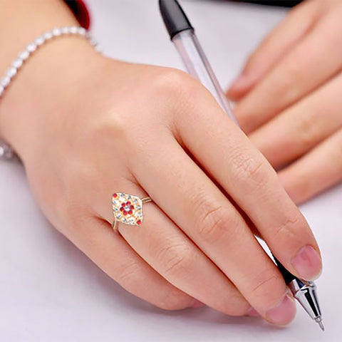 "Ladie's ""Stylish Ring""-BE372"