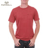 Farrell T Shirt For Men Cut Label-Pink Melange-BE2566