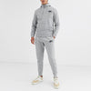 NK Slim Fit Pullover Fleece Track Suit For Men-Grey Melange-NA10122