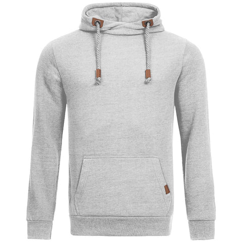 "Men's ""Sublevel"" Stylish Pull Over Fleece Hoodie-Gray-BB06"