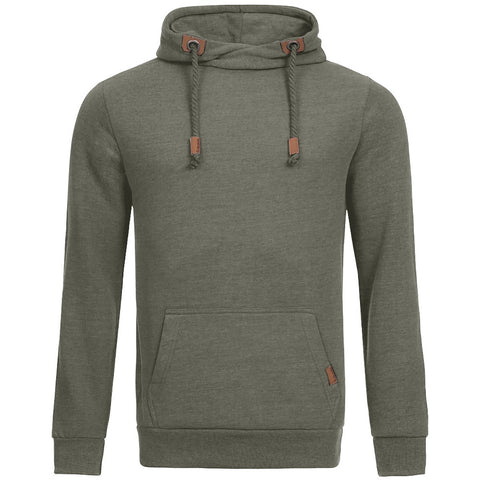"B Quality Men's ""Sublevel"" Stylish Pull Over Fleece Hoodie-Fern Green-BB09"