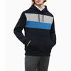 New Stylish Fleece Pullover Hoodie For Men-Dark Navy With Panels-SP1613