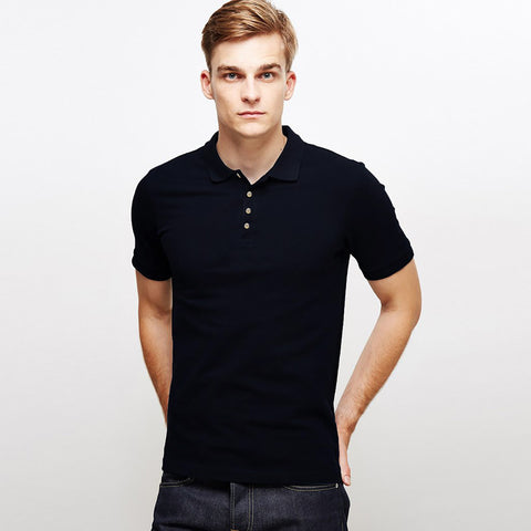 Next Polo Shirt For Men Cut Label -Dark Navy-BE2280
