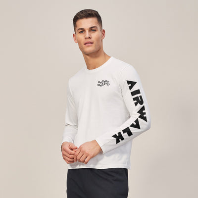 Air Walk Single Jersey Long Sleeve Tee Shirt For Men-BE8137