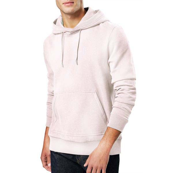 1925b4987 F&F Pullover Burn Out Wash Terry Fleece Hoodie For Men-Light Pink-BE3768