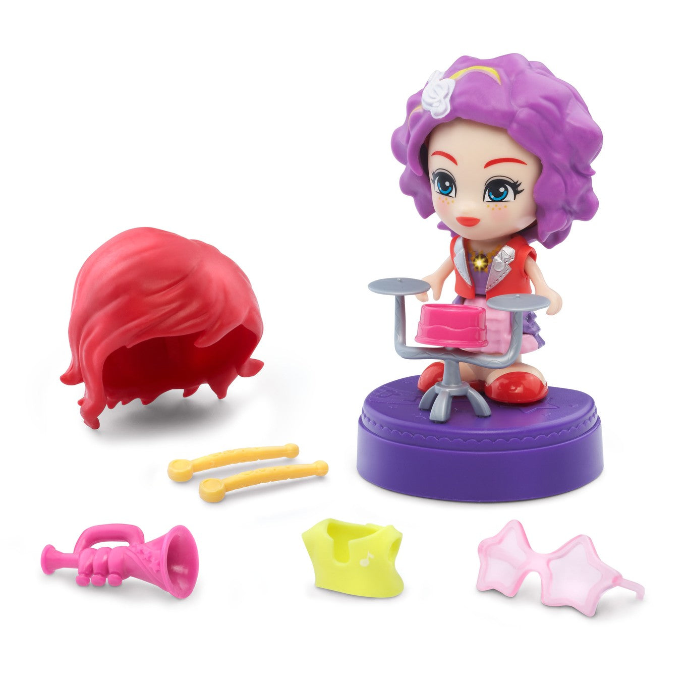 Vtech Flipsies Jazz & Her Drum Toy Set For Kids-NA9663