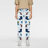 brandsego - Zara Man Slim Fit Flannel Trouser For Men-Off White & Allover Print-NA9269
