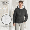 Next Full Fur Zipper Hoodie For Men-Light Black Melange-NA152