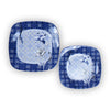Plastic Flower Printed Food Snack Dessert Dish Plate Set-JW134