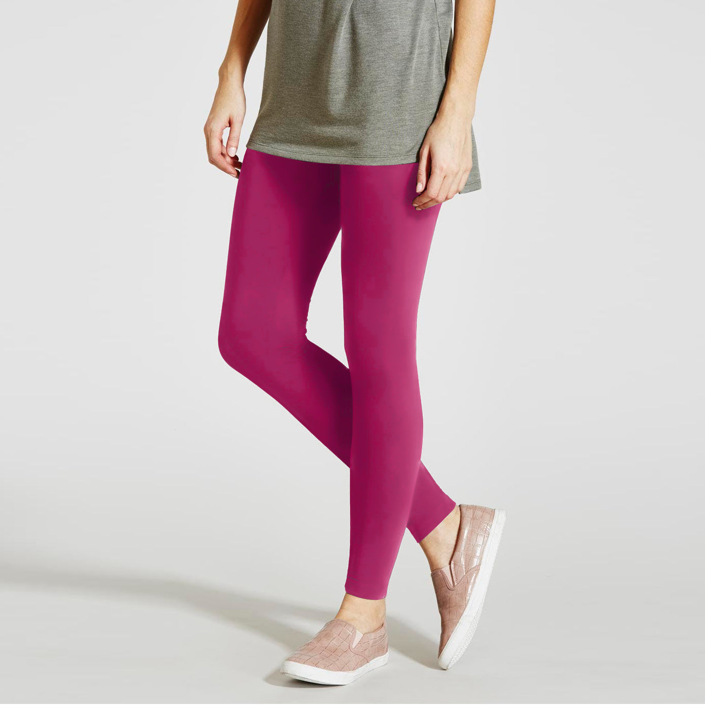 NK Leggings For Women-Pink-NA11052