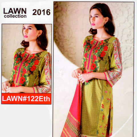 "Ladie's ""Lawn Collection"" Unstitched 3 Piece Suite -(ST1000)"